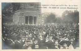 PARIS MANIFESTATION 17 OCTOBRE 1909 CONTRE L'EXECUTION DE FERRER 100000 MANIFESTANTS - Manifestations