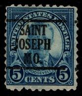 """USA Precancel Vorausentwertung Preo, """"St JOSEPH"""" (MO). - Preobliterati"""