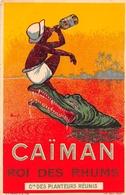 """¤¤   -  Carte Publicitaire  -  """" CAÏMAN"""" Le Roi Des Rhums De La Compagnie Des Planteurs Réunis  -  Crocodile  -  ¤¤ - Publicité"""