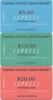 Série De 3 Cartes : Turning Stone Casino Resort : Multi-Game Credits - Cartes De Casino