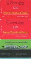 Lot De 3 Cartes : Turning Stone Casino Resort : Instant Multi-Game Credits - Cartes De Casino