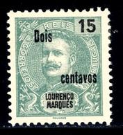 ! ! Lourenco Marques - 1915 D. Carlos OVP 2 C - Af. 145 - MH - Lourenco Marques