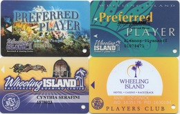 Lot De 4 Cartes : Wheeling Island Casino & Racetrack : Wheeling WV - Cartes De Casino