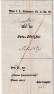 AUTRICHE 1848 KUNDMACHUNG DE KORNEUBURG - ...-1850 Préphilatélie