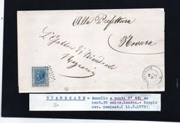 CG29 - Lettera Da Biandrate Per Novara 11/8/1875 - Marcophilia