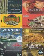 Lot De 8 Cartes De Casino : Thème Billets De Banque US$ - Cartes De Casino