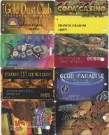 Lot De 8 Cartes De Casino : Thème Jetons De Slot Machine - Cartes De Casino