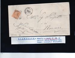 CG29 - Lettera Da Biandrate Per Novara 28/8/1875 - Marcophilia