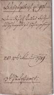 AUTRICHE 1789 AUSZUGSBRIEF AVEC TIMBRE FISCAL - ...-1850 Préphilatélie