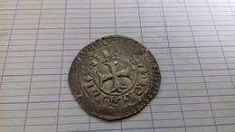 JEAN LE BON BLANC AU CHATEL FLEUR DE LIS   2 EM EMISSION  ARGENT - 1350-1364 Jean II. Le Bon
