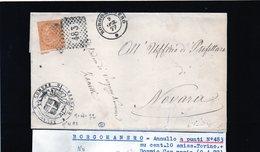 CG29 - Lettera Da Borgomanero Per Novara 9/4/1877 - Marcophilia