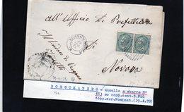 CG29 - Lettera Da Borgomanero Per Novara 29/4/1878 - Marcophilia