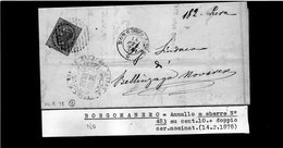 CG29 - Lettera Da Borgomanero Per Bellinzago Novarese 14/2/1878 - Marcophilia