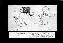CG29 - Lettera Da Borgomanero Per Novara 8/4/1878 - Marcophilia