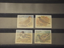 ISLANDA - 1987 UCCELLI 4 VALORI  - NUOVI(++) - Nuevos
