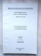 Inventaire Des Archives De L'Entreprise Textile Jean-Nicolas David A FRANCOMONT (18e-19e Siècles) - 1977 -Liege Verviers - Verviers
