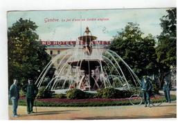 Genève. Le Jet D'eau Au Jardin Anglais 1914 - GE Genève