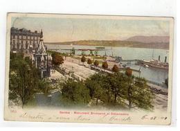 962 Genève  -  Monument Brunswick Et Débarcadère 1904 - GE Genève