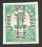 Spain, Frente Popular, 1 C. 1937, MH - Nationalistische Ausgaben