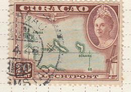 PIA - CURAçAO - 1943 -Francobollo Di Posta Aerea - Carta Della Isole : Aruba, Bonaire E Curaçao - (Yv  P.A.27) - Antille