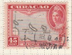PIA - CURAçAO - 1943 -Francobollo Di Posta Aerea - Carta Della Isole : Aruba, Bonaire E Curaçao - (Yv  P.A. 32) - Antille
