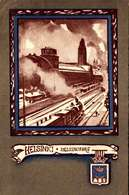 Photo-CPA Helsinki / Helsingfors, Järnvägsstation, La Gare 1918 / TTBE TRES RARE   /  LOT 4031 - Finlande