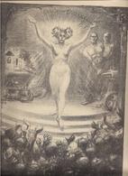 SUPERBE GRAVURE STEINLEN 1903 - FEMME NUE -  Programme De La 2ème  Solennité Scientifique Et Artistique   - (imp.VERNEAU - Estampes & Gravures