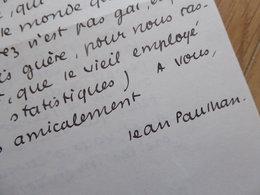 Jean PAULHAN (1884-1968) Ecrivain ACADEMIE FRANCAISE- Fautrier. AUTOGRAPHE à Maurice Garçon - Autographes