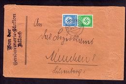Deutsches Reich - Brief ALLACH - München  - 20.4.38 - Mi.134,140 Von Gendarmeriestation - Dienstpost