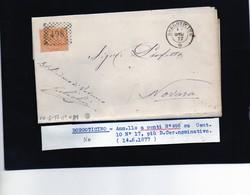 CG29 - Lettera Da Borgoticino Per Novara 14/6/1877 - Marcophilia