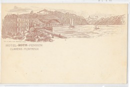 Clarens - Montreux : Hotel Roth Pension, Incunable - VD Vaud