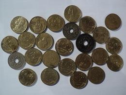 LOT DE 25 PIECES DE 5 CENTIMES DIFFERENTES. 1919 / 1998 - C. 5 Centimes