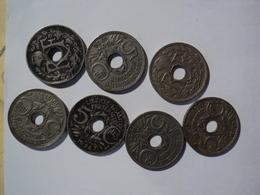 LOT DE 7 PIECES DE 5 CENTIMES LINDAUER PETIT MODULE - C. 5 Centimes