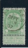 OCB 56 - Afstempeling AVENNES- COBA 8 - 1893-1907 Wappen