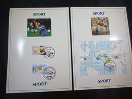 """BELG.1996 2646/2647 & BL72 (2648) FILATELIST CARDS WITH FIRST DAY STAMPS : """" SPORT """" - 1991-00"""