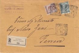 Da Rovigo -  Raccomandata Manoscritti Cent. 45 - 1900-44 Victor Emmanuel III