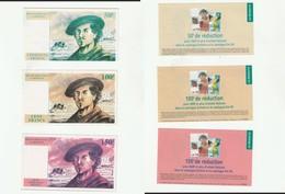 Lot De 3 Billets De 50F,100F,150F  Fictifs Publicitaires De La Redoute (lot 298) - Fictifs & Spécimens