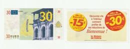 """Billet Fictif  Spécimen Publicitaire De 30 Euros De """"la Maison De Valérie"""" (lot 307) - Fictifs & Spécimens"""