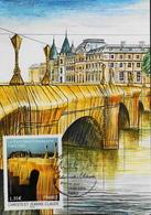 CP. FDC. 1er Jour 2009 - Christo Et Jeanne-Claude - Le Pont Neuf Empaqueté - Daté Le 13.06.2009 - Parf. état - Maximum Cards