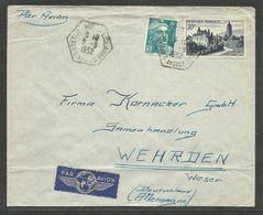 Cachet RAR Gérance Gratuite BRETIGNY SUR ORGE - L. CLAUSE / Lettre Avion >>> ALLEMAGNE 09.06.1952 - Poststempel (Briefe)