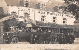 """SUCE-sur-ERDRE - Carte-Photo Du Restaurant """"Aux Poissons Frais"""" Maison De """"Louis VIE"""" - Transport """"DROUIN""""de Nantes - Francia"""