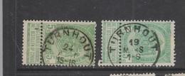 COB 56 Oblitération Centrale TURNHOUT Deux Nuances - 1893-1907 Armarios