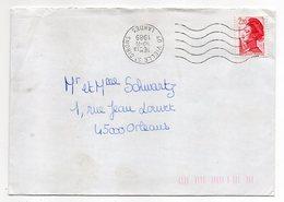 1989-- VIELLE SAINT GIRONS - 40 --Oblitération SECAP Avec Couronne Montée à L' Envers .type Marianne Liberté....à Saisir - Postmark Collection (Covers)