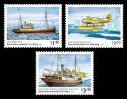AAT 2020 Mih. 270/72 Ship Wyatt Earp Expedition To Antarctica. Plane Vought Kingfisher MNH ** - Ungebraucht
