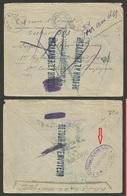 Lettre Nombreuses Annotations P/ Retour / Dont Cachet 4ème RGT De ZOUAVES - TUNIS 1916 - Postmark Collection (Covers)