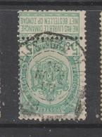 COB 56 Oblitération Télégraphe BRUXELLES Porte De Namur 18 - 1893-1907 Armarios