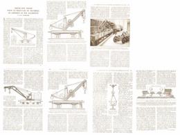 GRUES Sur TRUCK Pour Le RELEVAGE Du MATERIEL De CHEMINS De FER ACCINDENTE   1921 - Railway