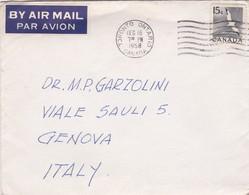CANADA- BUSTA VIAGGIATA BY AIR MAIL - TORONTO - ONTARIO - VIAGGIATA PER GENOVA - ITALY - 1952-.... Règne D'Elizabeth II