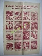 GRANDE PUBLICITE - HISTOIRE EN 16 IMAGES DE LA FABRICATION DU SAVON PALMOLIVE - AU DOS VOYAGE AUX SOURCES DU PALMOLIVE - Autres