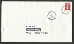 VENDEE / Cachet 85 - LA ROCHE S/ YON - GARE - TRANSBORDEMENT / Enveloppe 1995 - Poststempel (Briefe)